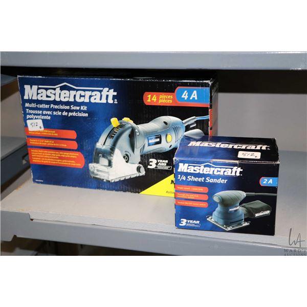 Mastercraft multi cutter precision saw kit no. 099-8530-6 and Mastercraft quarter sheet 2 amp. palm