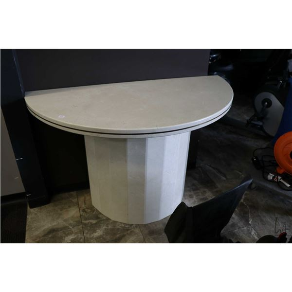 """Large stone two piece flat to the wall table 48"""" wide"""