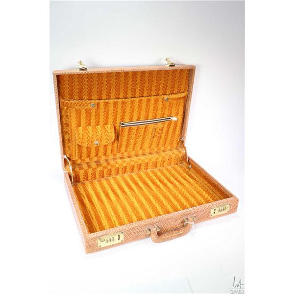 Cobra skin briefcase