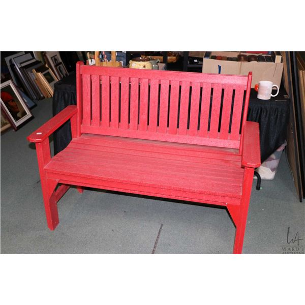 """Red composite bench 48"""" wide"""