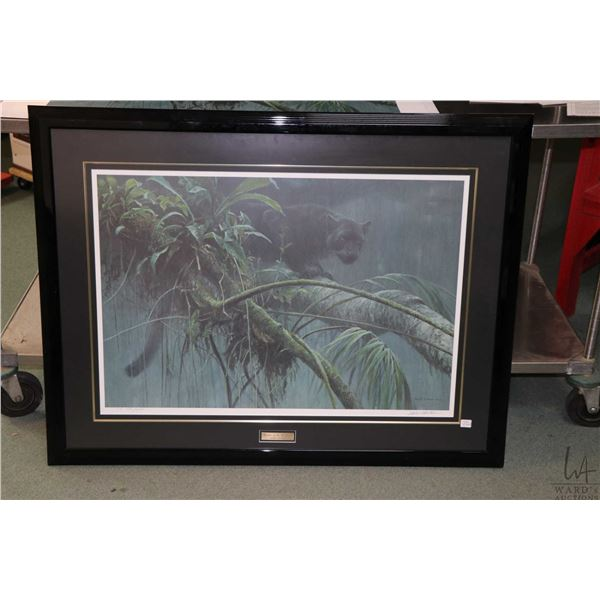 """Framed limited edition print titled """"Shadow of the Rain Forest"""" pencil signed by artist Robert Batem"""