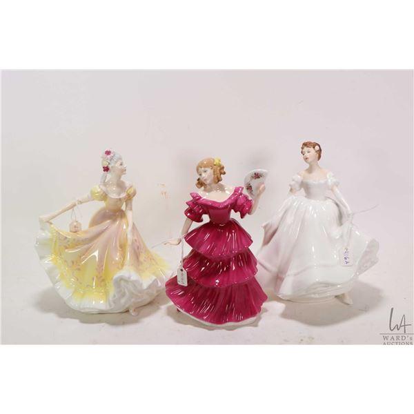 Three Royal Doulton figurines including Nanette HN2379, Jennifer HN3447 and Nancy HN2955
