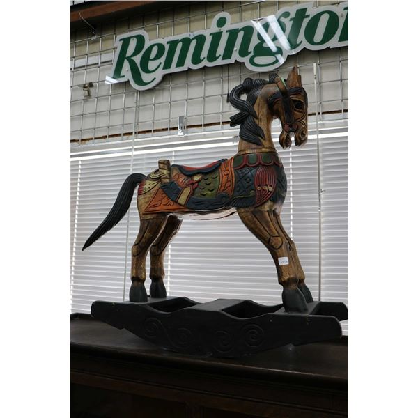 Hand made decor rocking horse. Not Available For Shipping. Local Pickup Only