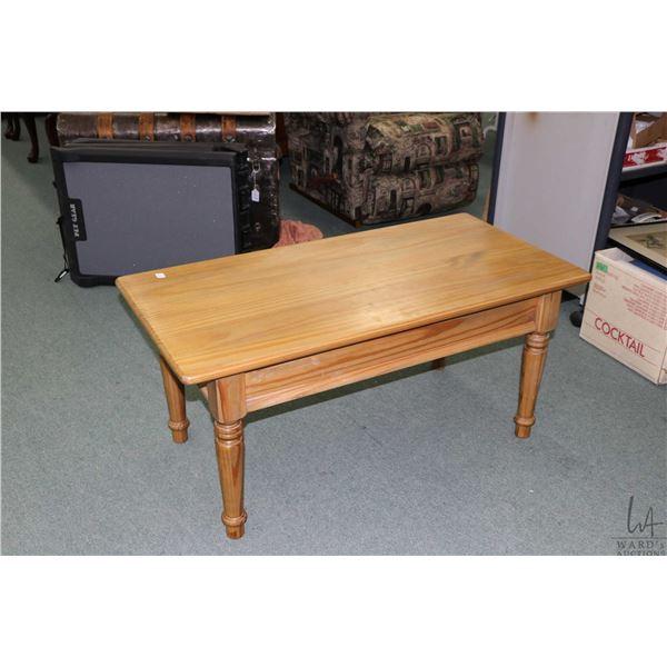 Brazilian made natural finish coffee table