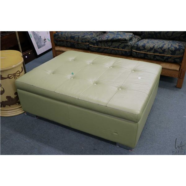"""Large button tufted ottoman with lift lid storage, 36"""" X 45"""""""