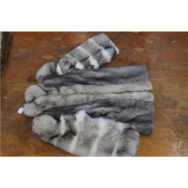 Two vintage fur coats including what appears to be a full length red fox coat and a Arctic fox jacke