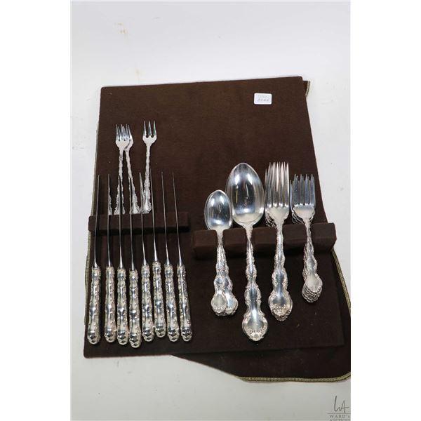 "Selection of Birks Regency plate silver plate ""Louis de France"" flatware including eight each of lun"