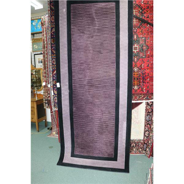 Modern wool area carpet in purple and black tones  Delray  pattern by Dalyn, 48  X 119