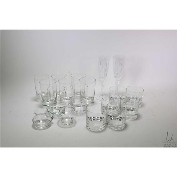 Selection of crystal including eight tall and six short tumblers by Rosenthal Studio etc.