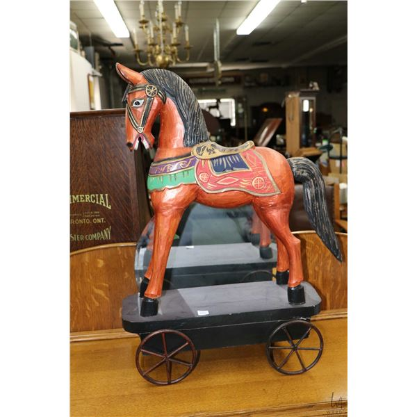 Modern representation of an antique pull horse