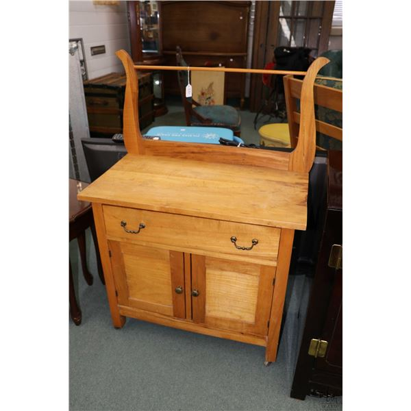 Antique Canadian washstand with harp back