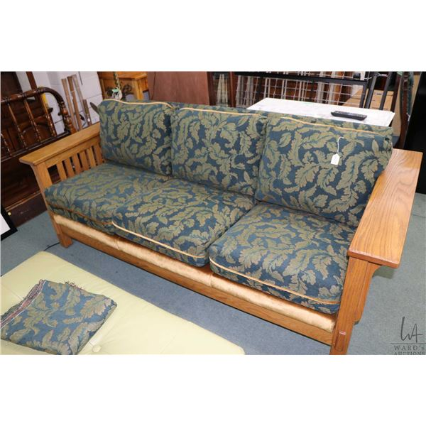 Modern Mission style sofa to match lot 676