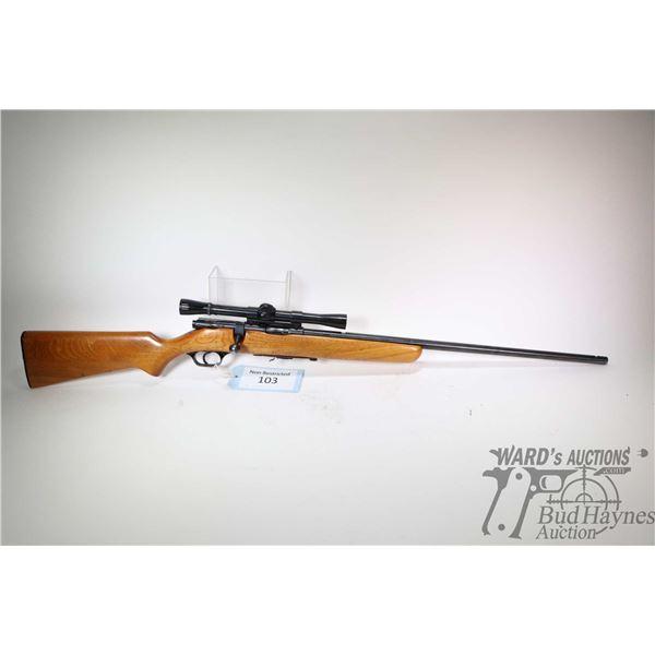 """Non-Restricted rifle Stevens model 84C, 22LR five shot bolt action, w/ bbl length 24"""" [Blued barrel"""