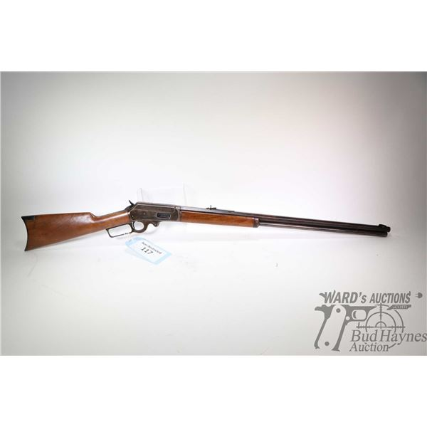 """Non-Restricted rifle Marlin model Model 1893 (Safety), .32-40 lever action, w/ bbl length 26"""" [Blued"""