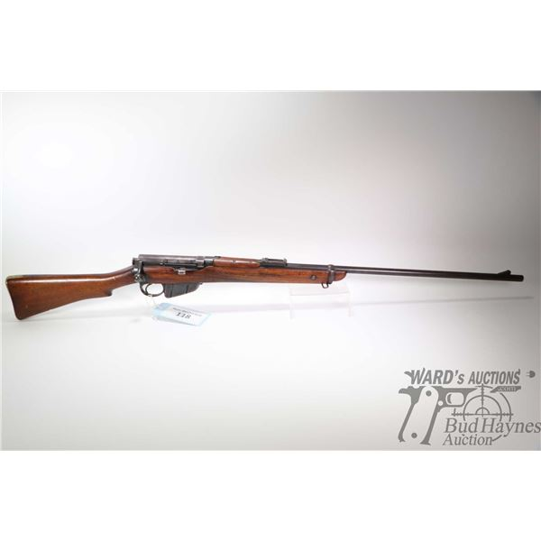Non-Restricted rifle Lee Enfield(B.S.A.Co) model 1901 L.E 1*, .303 Brit ten shot bolt action, w/ bbl