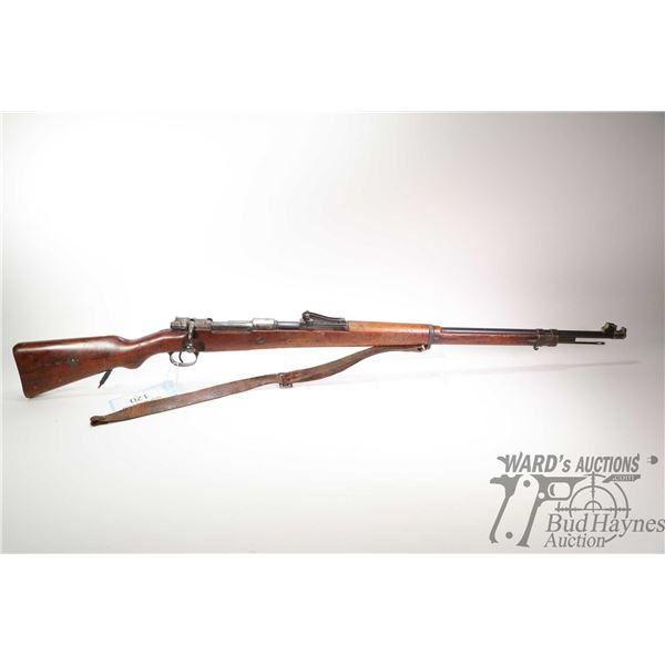 Non-Restricted rifle Mauser (Spandau 1901) model GEW.98, 7.6mm bolt action, w/ bbl length 30  [Blued