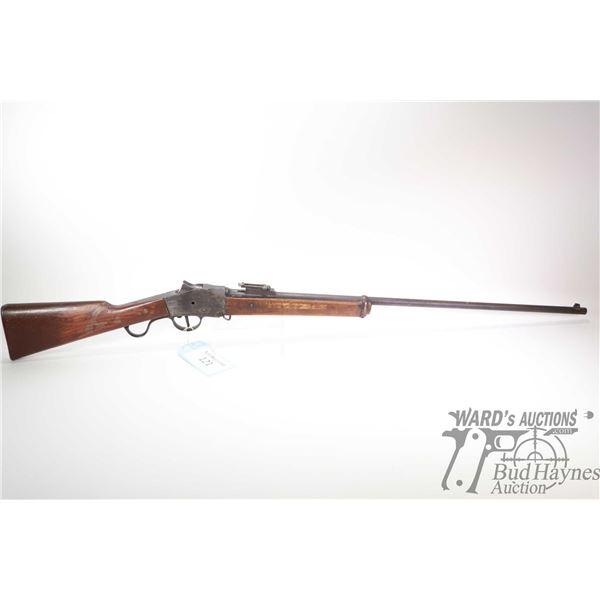 Non-Restricted rifle Steyr model 1885 falling block, 8mm single shot falling block, w/ bbl length 32