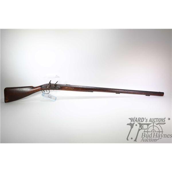 "Antique shotgun Unknown English model Muzzle loader, .825"" at muzzle single shot flintlock, w/ bbl l"