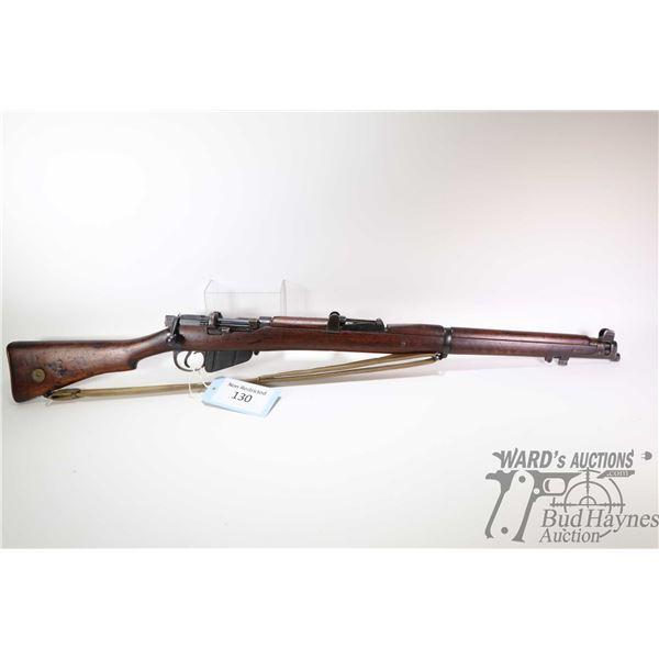 Non-Restricted rifle Lee Enfield(B.S.A Co) model SHT LE III, .303 Brit ten shot bolt action, w/ bbl