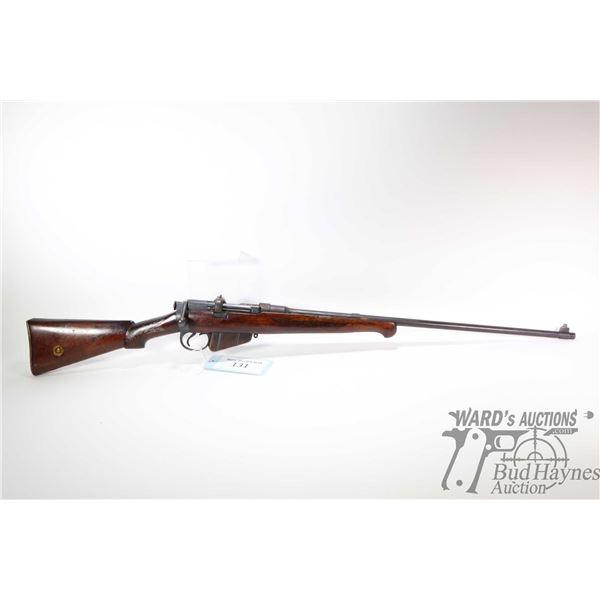 Non-Restricted rifle Lee Enfield(B.S.A Co) model SHT LE III*, .303 Brit ten shot bolt action, w/ bbl