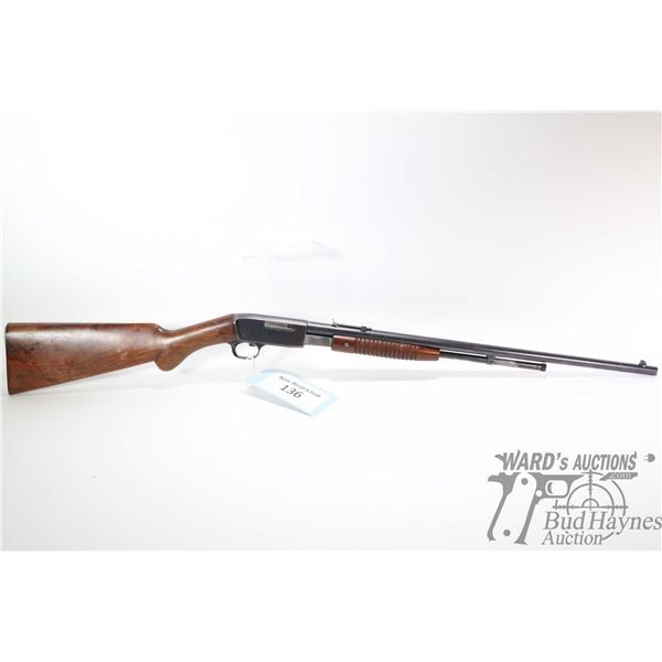 """Non-Restricted rifle FN model Trombone, .22 L pump action, w/ bbl length 22"""" [Blued barrel and recei"""