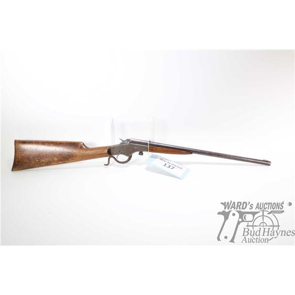 Non-Restricted rifle J. Stevens model Crack Shot-26, .22 LR Single Shot falling block, w/ bbl length