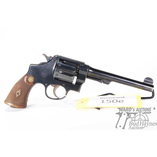 Restricted handgun Smith & Wesson model MK II Hand Ejector 2nd md, .455 Rev. six shot double action