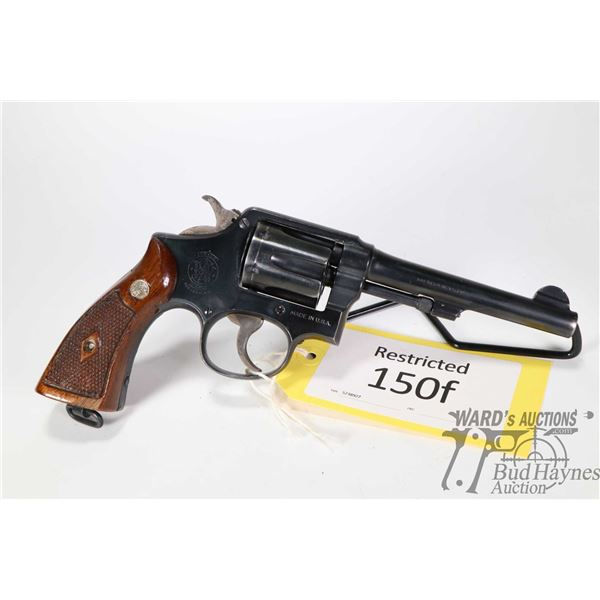 Restricted handgun Smith & Wesson model Hand Ejector, .38 Special (?) six shot double action revolve