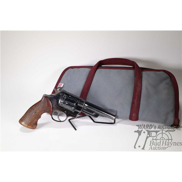 Restricted handgun Smith & Wesson model Hand Ejector, .357 Mag six shot double action revolver, w/ b