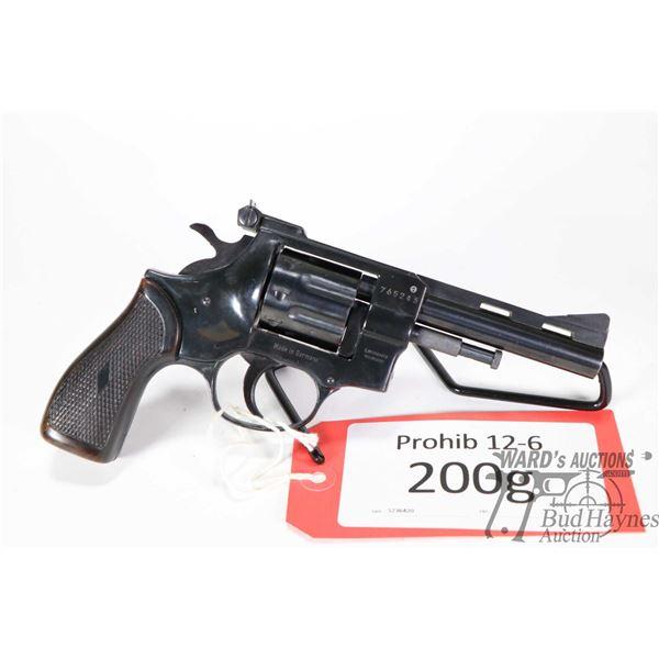 Prohib 12-6 handgun Arminius HW 5T Prohib 12-6 handgun Arminius model HW 5T .22 LR eight shot double