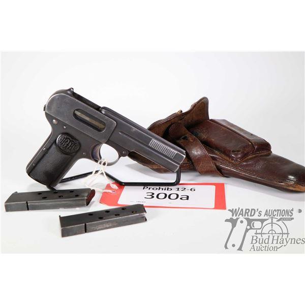 Prohib 12-6 handgun Dreyse M1907 Prohib 12-6 handgun Dreyse model M1907 7.65mm 7 Shot w/ bbl length