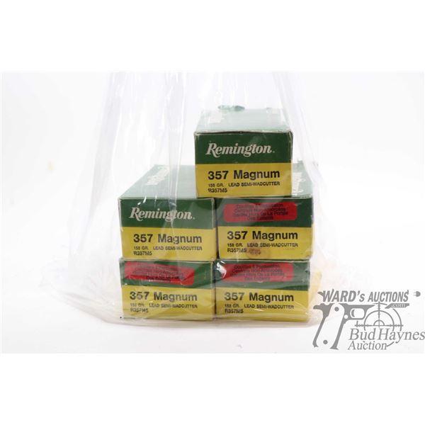 Four 50 count boxes of Remington .357 magnum 158 Four 50 count boxes of Remington .357 magnum 158 gr