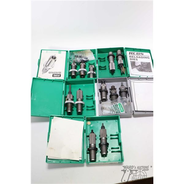 Five sets of RCBS loading dies including two piece Five sets of RCBS loading dies including two piec
