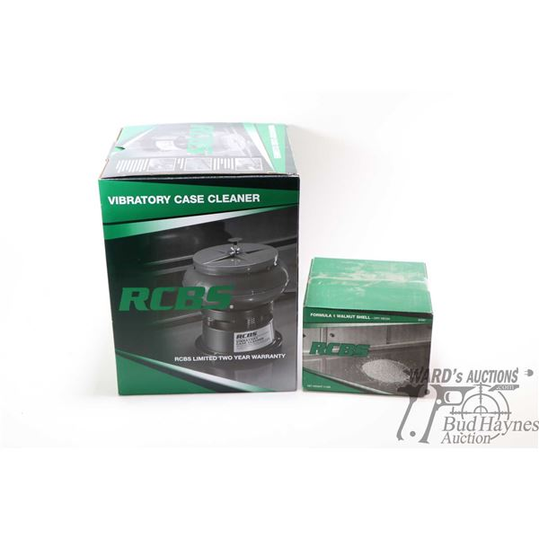 RCBS Vibratory Case Cleaner with original RCBS Vibratory Case Cleaner with original packaging and a