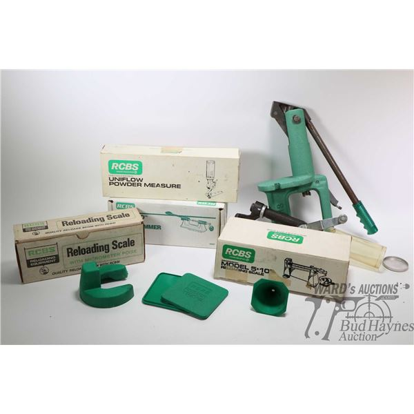 Selection of reloading equipment and accessories Selection of reloading equipment and accessories in