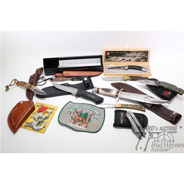 Selection of knives including DH Russell Groham Selection of knives including DH Russell Groham Belt