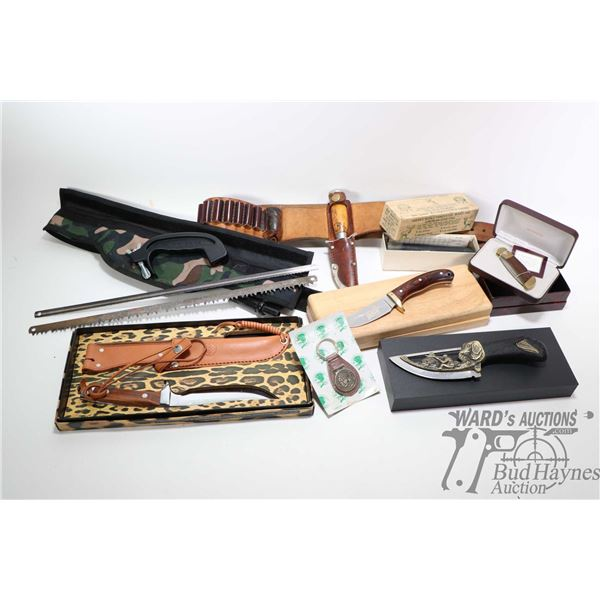 Selection of knives including cased Olympia Selection of knives including cased Olympia decorative k