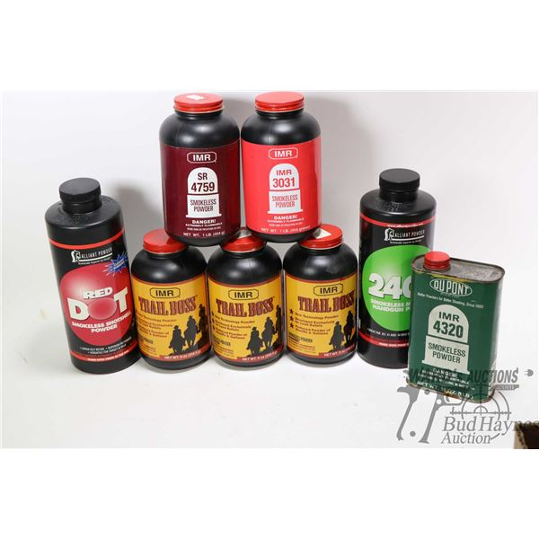 Selection of powder including Reliant 2400 1 lbs., Selection of powder including Reliant 2400 1 lbs.
