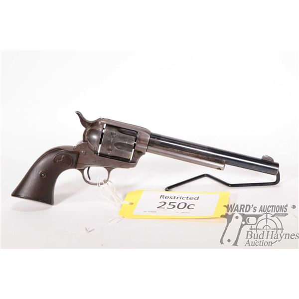 Restricted Colt Frontier Six Shooter Restricted Colt model Frontier Six Shooter 44-40 6 Shot w/ bbl