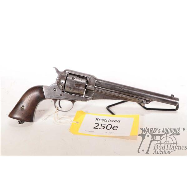 Restricted Remington 1875 Restricted Remington model 1875 44-40 6 Shot w/ bbl length 190mm serial #