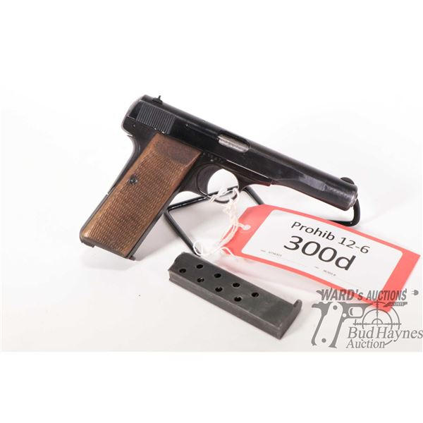 Prohib 12-6 FN Browning 1910 Prohib 12-6 FN Browning model 1910 32 Auto 7 Shot w/ bbl length 112mm s