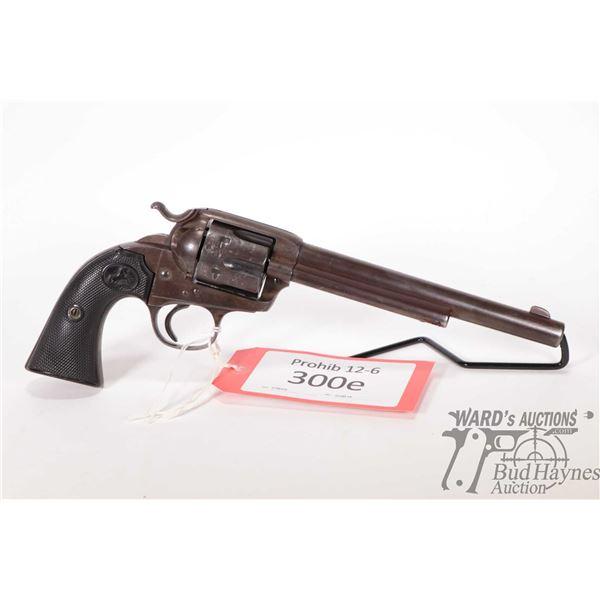 Prohib 12-6 Colt 1984 Bisley SAA Prohib 12-6 Colt model 1984 Bisley SAA 32 WCF 6 Shot w/ bbl length