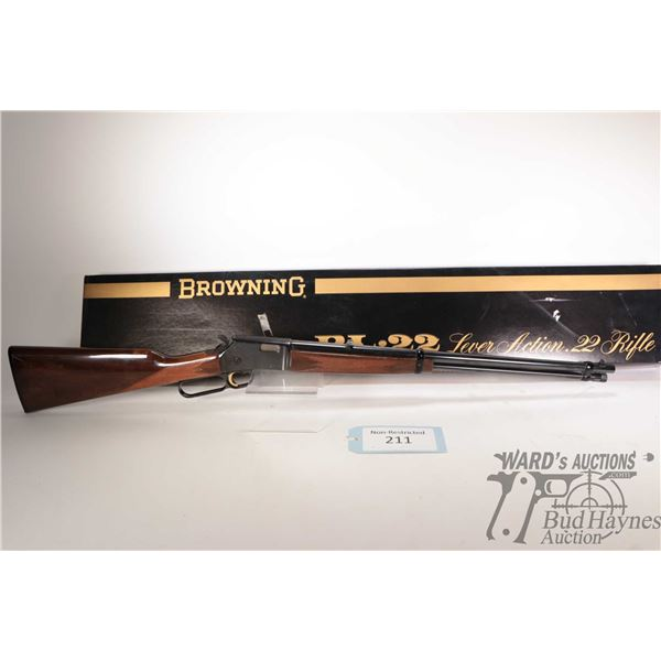 """Non-Restricted Browning BL-22 Non-Restricted Browning model BL-22 22 S-L-LR w/ bbl length 20"""" serial"""