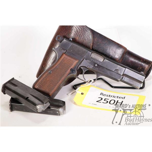 Restricted FN Browning Hi-Power Restricted FN Browning model Hi-Power 9mm Luger 10 Shot w/ bbl lengt
