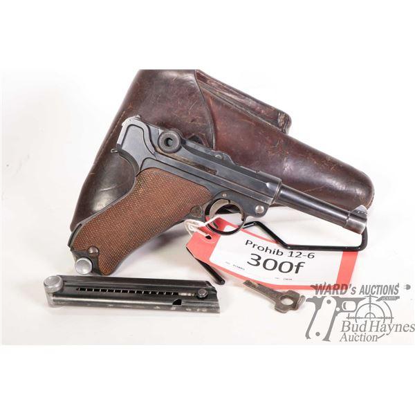Prohib 12-6 Luger (DWM) P08 Prohib 12-6 Luger (DWM) model P08 7.65mm Luger 8 Shot w/ bbl length 95mm