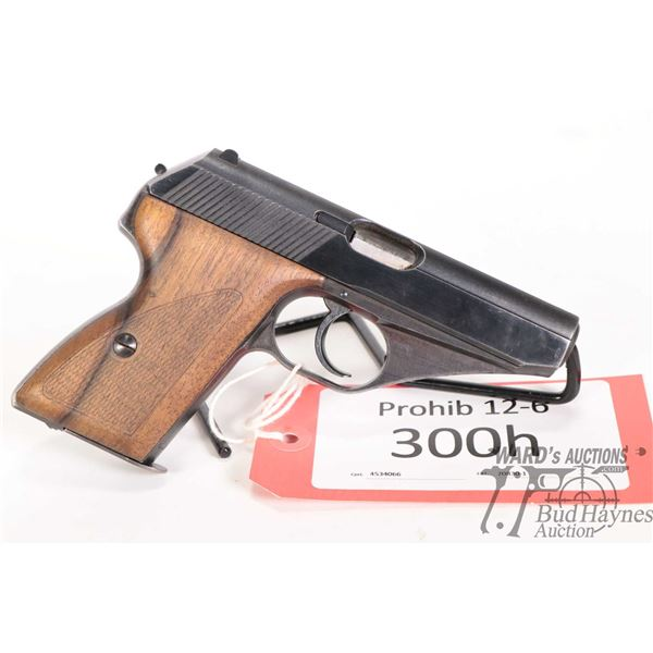 Prohib 12-6 Mauser HSc Prohib 12-6 Mauser model HSc 7.65mm w/ bbl length 86mm serial # 815739 certif