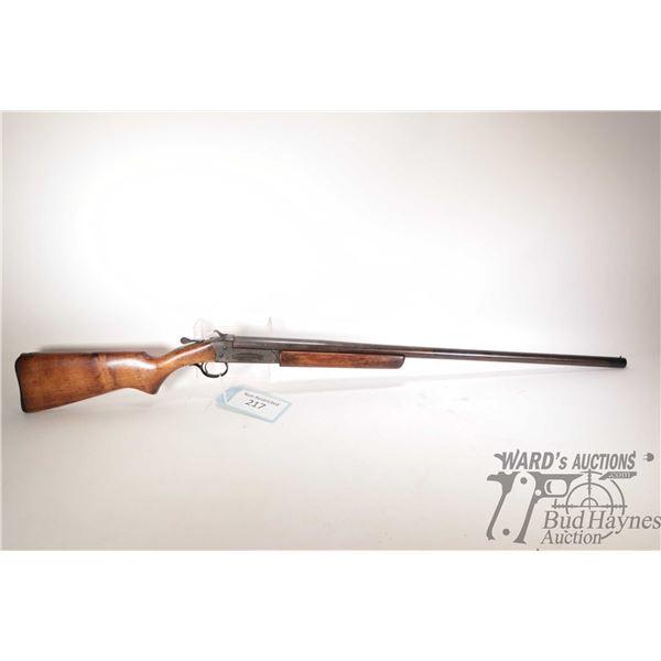 "Non-Restricted Cooey 84 Non-Restricted Cooey model 84 12Ga Single Shot w/ bbl length 30"" serial # 10"