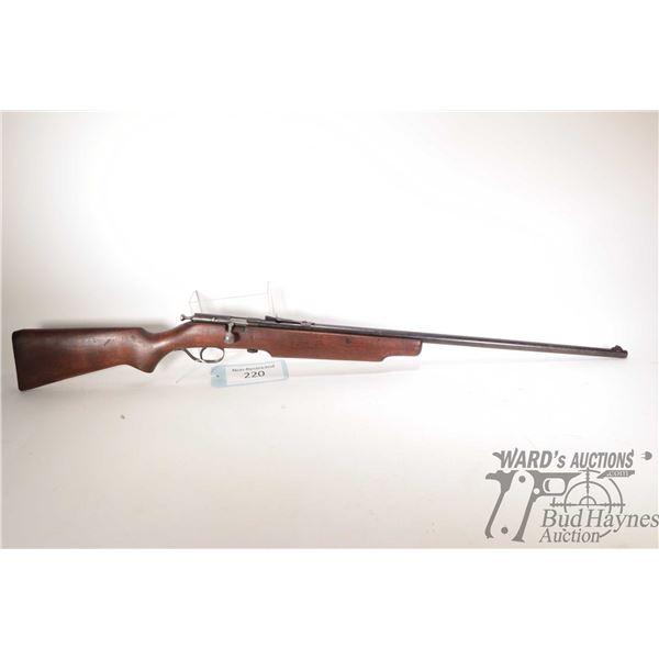 "Non-Restricted Cooey 75 Non-Restricted Cooey model 75 22 Single Shot w/ bbl length 26 3/4"" serial #"
