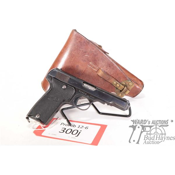 Prohib 12-6 MAB D Prohib 12-6 MAB model D 7.65mm w/ bbl length 102mm serial # 51310 certificate # 47
