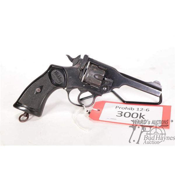 Prohib 12-6 Webley & Scott Mark IV Prohib 12-6 Webley & Scott model Mark IV 38 S&W 6 Shot w/ bbl len